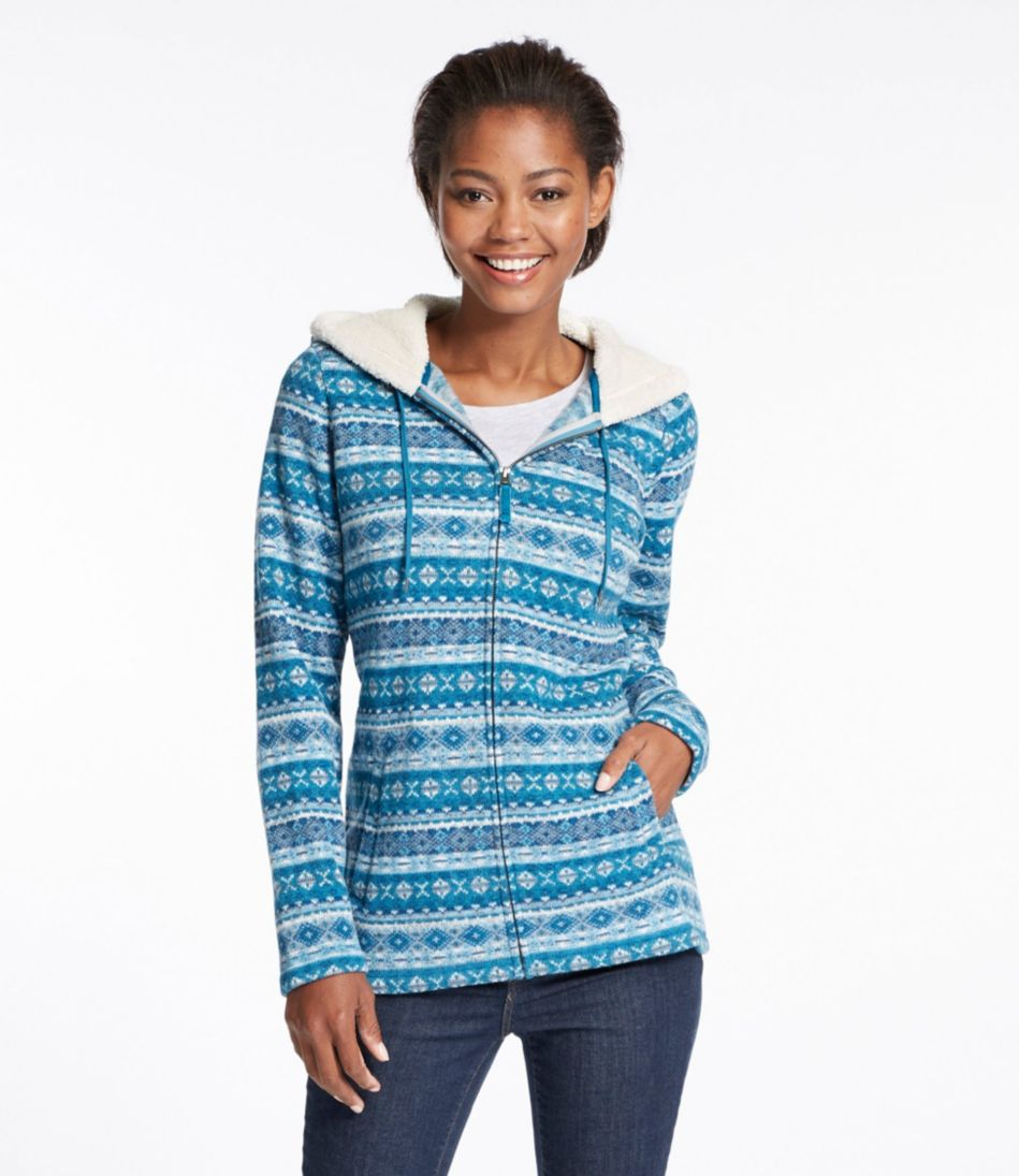 Fair Isle Fleece-Knit Jacket, Print