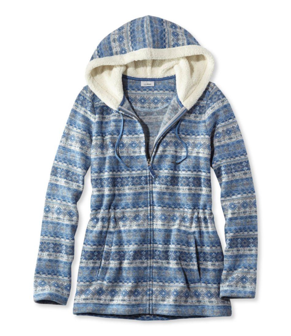 Fair Isle Fleece-Knit Jacket, Print