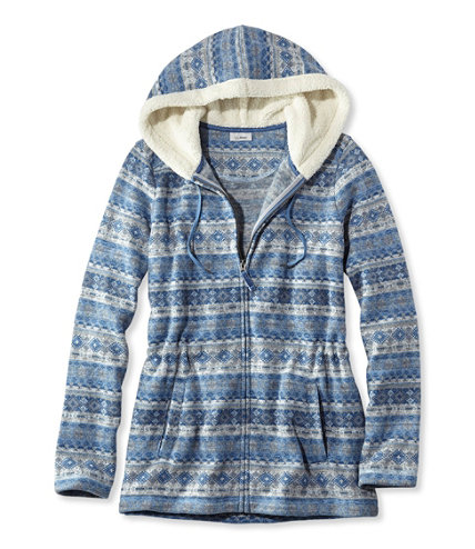 Women's Fair Isle Fleece-Knit Jacket, Print | Free Shipping at ...