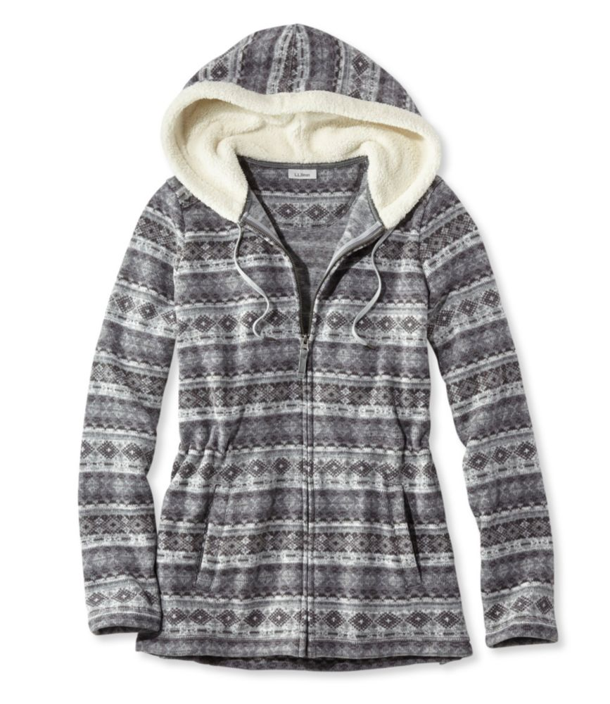 L.L.Bean Fair Isle Fleece-Knit Jacket