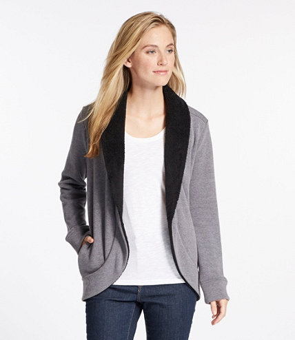 Women's Cozy Fleece Open Cardigan | Free Shipping at L.L.Bean.