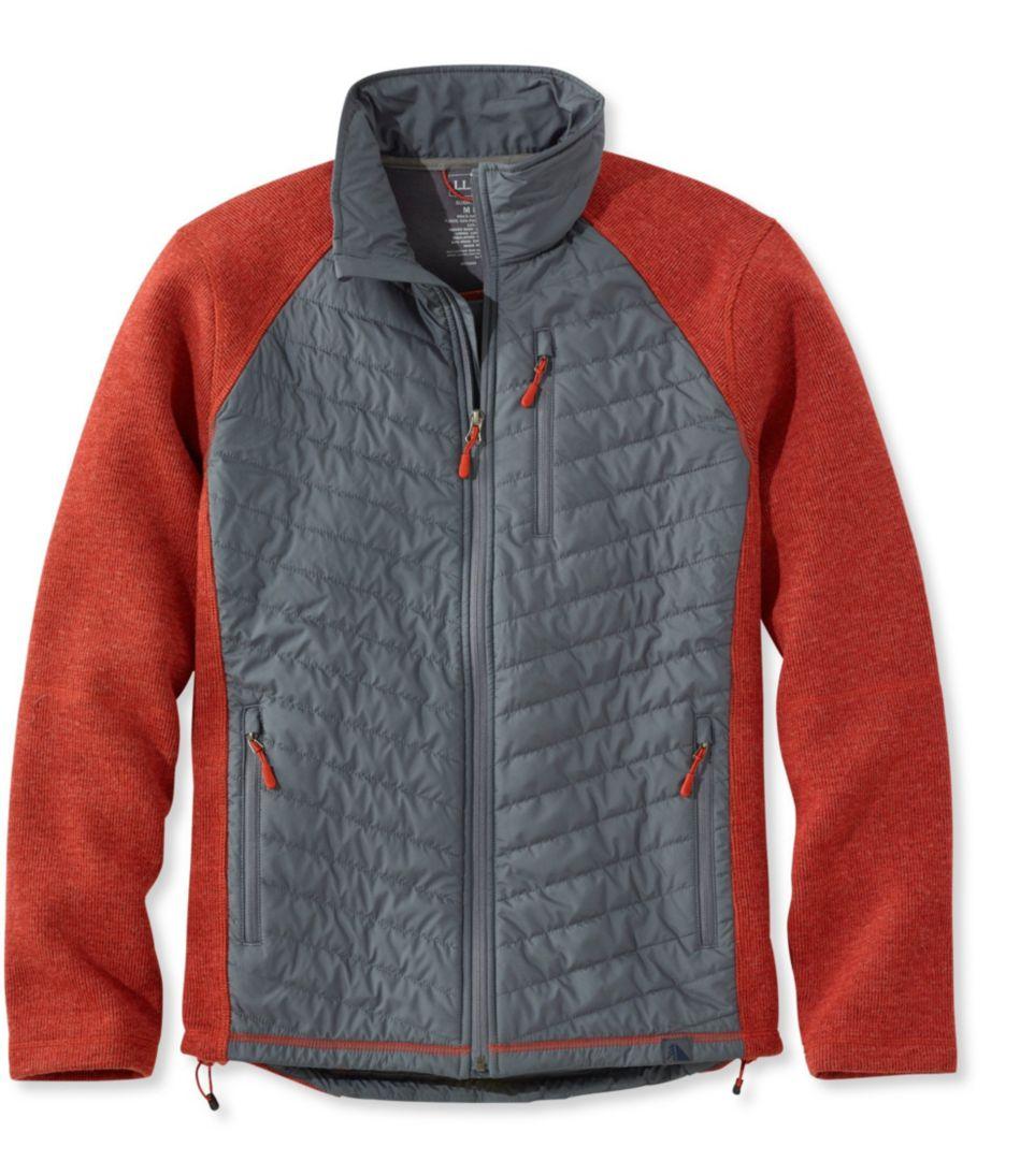 Wool Tek Mixed Media Jacket, Colorblock