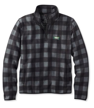 L.L.Bean Sweater Fleece Pullover, Buffalo Plaid