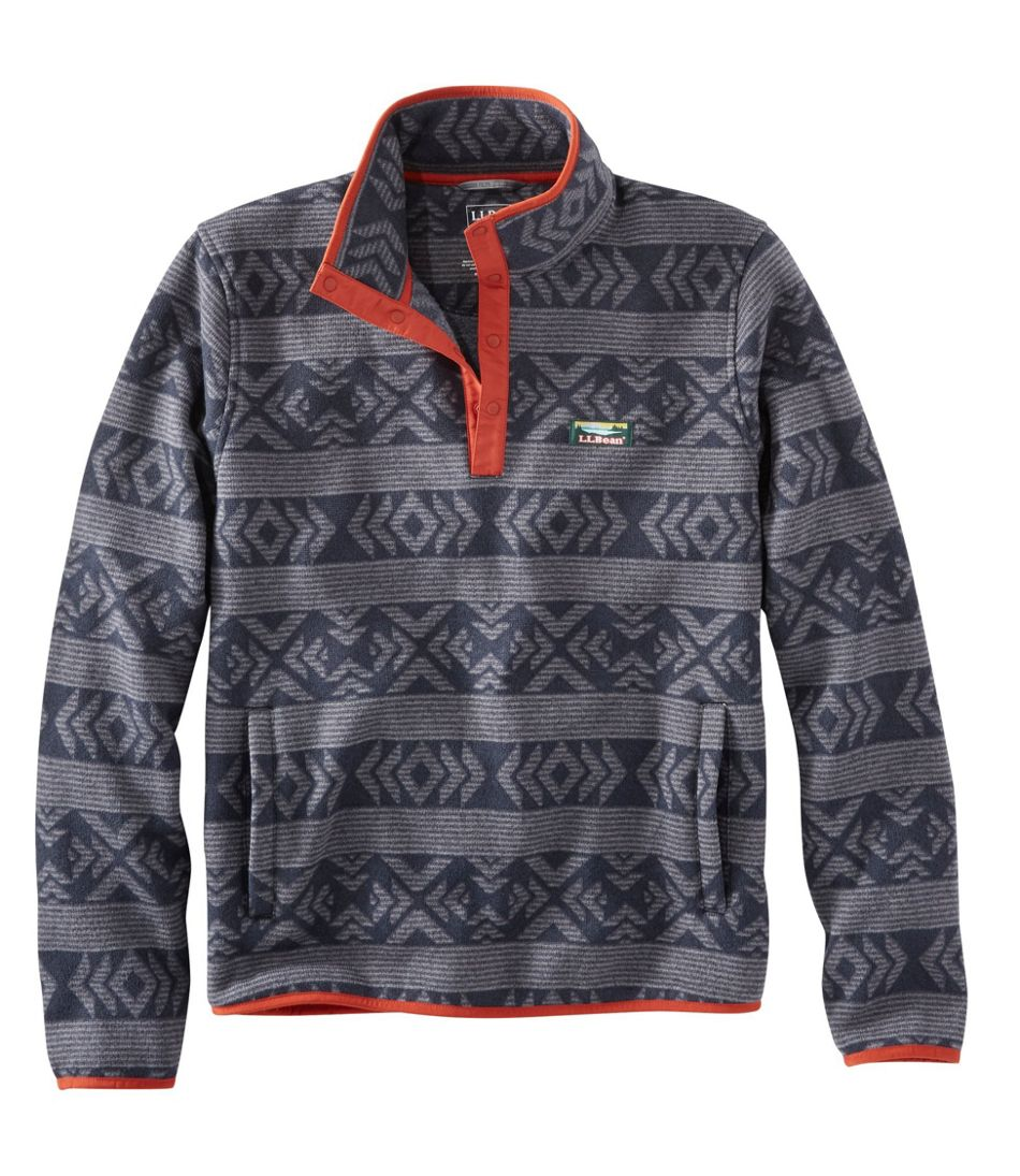 L.L.Bean Sweater Fleece Pullover, Print