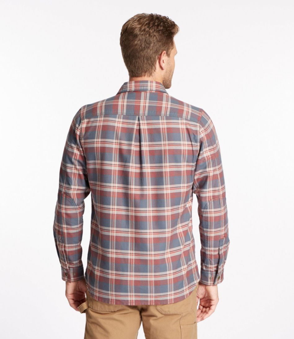 Katahdin Iron Works Water-Resistant Twill Shirt, Plaid