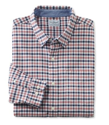 L.L.Bean Stretch Oxford Shirt, Slightly Fitted Plaid