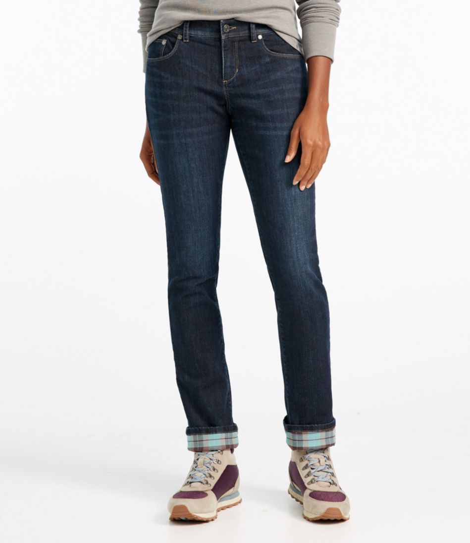 L.L.Bean Performance Stretch Jeans, Lined