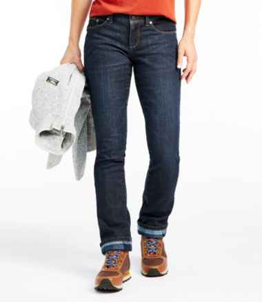 Women's L.L.Bean Performance Stretch Jeans, Lined