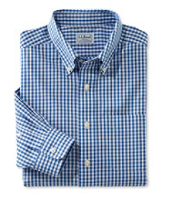 Wrinkle-Free Pinpoint Oxford Shirt, Slim Fit Gingham