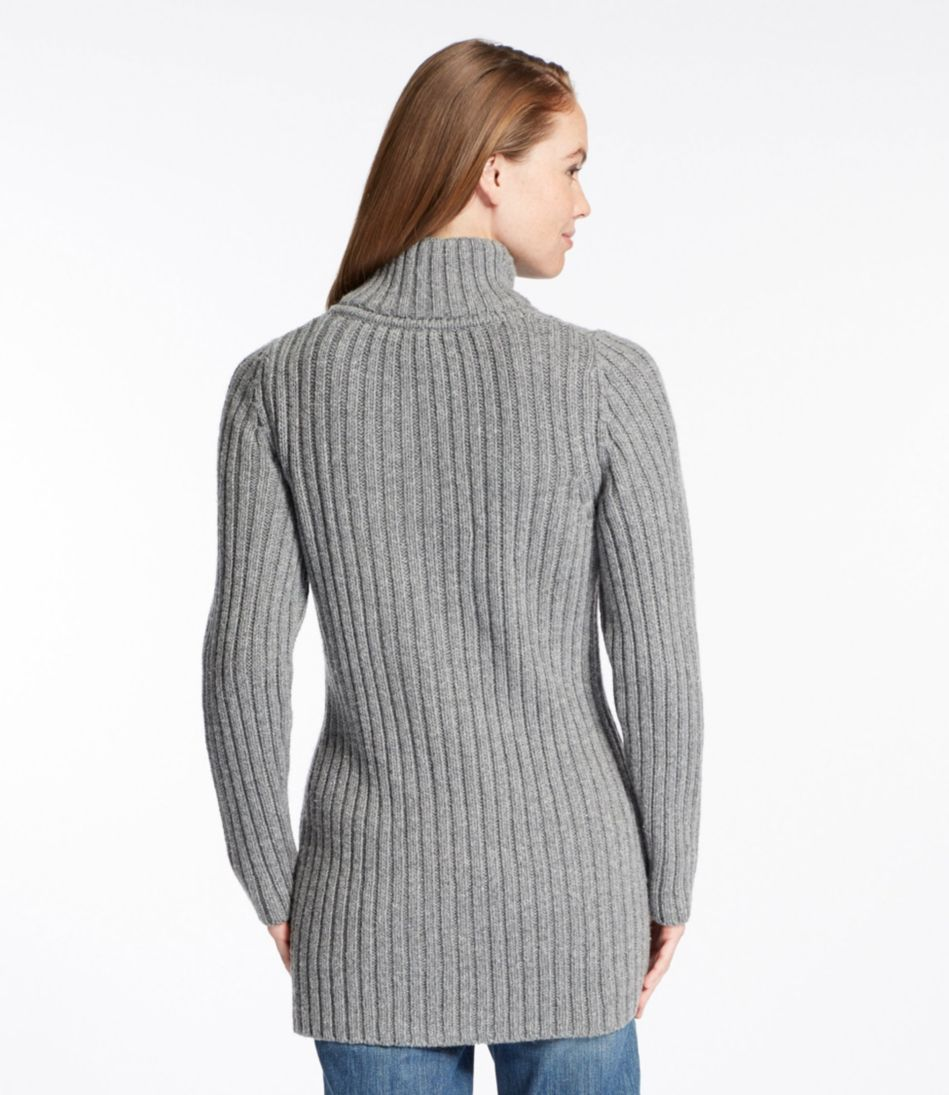 Chunky Ribbed Sweater, Button-Front Long Cardigan