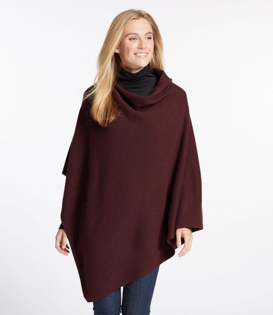 Merino-Blend Sweater Poncho