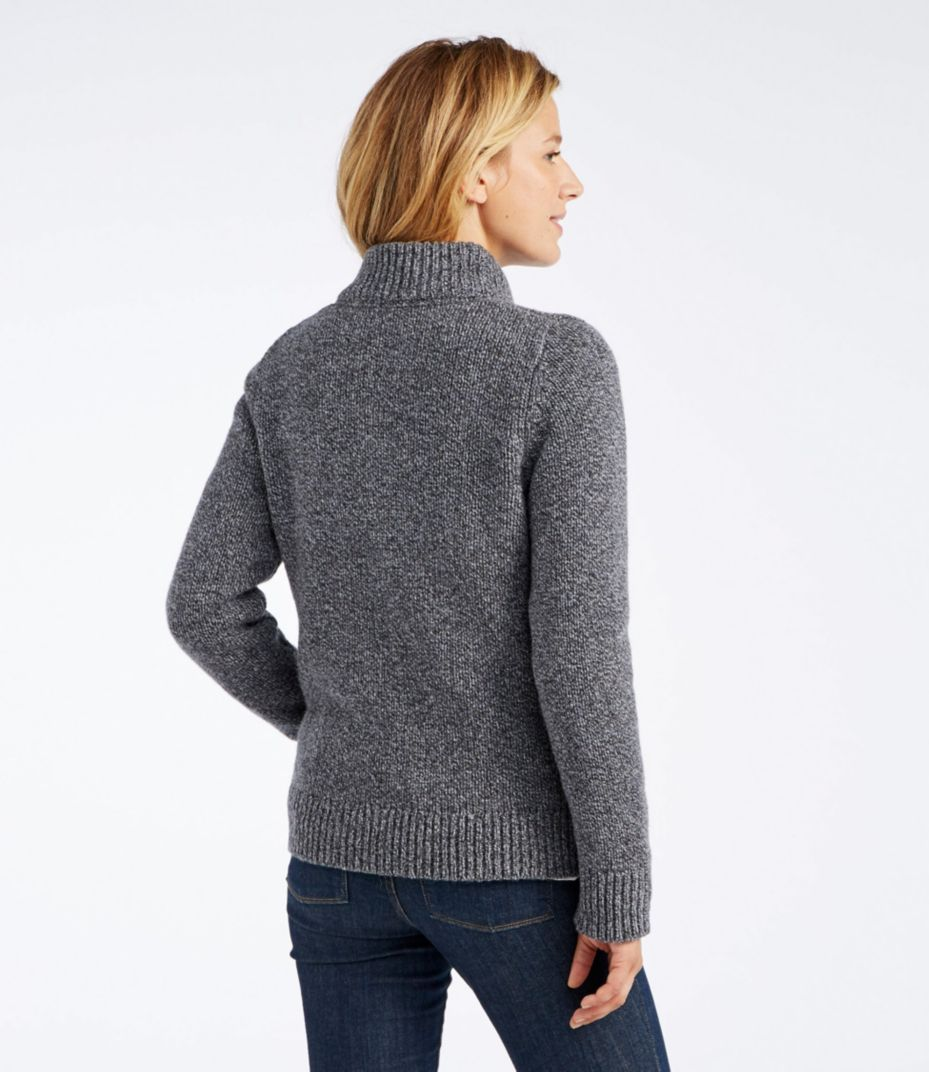 L.L.Bean Classic Ragg Wool Sweater, Zip Cardigan