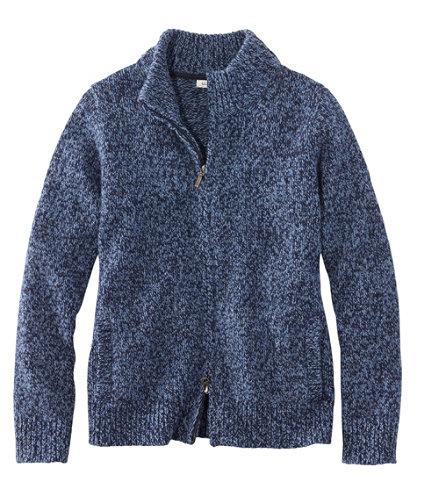 Women's L.L.Bean Classic Ragg Wool Sweater, Zip Cardigan | Free ...