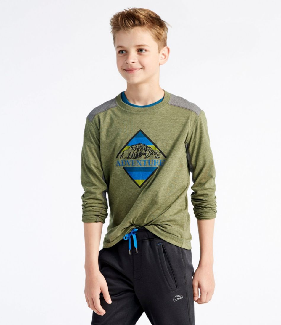 Boys' Pathfinder Tee, Long-Sleeve Graphic