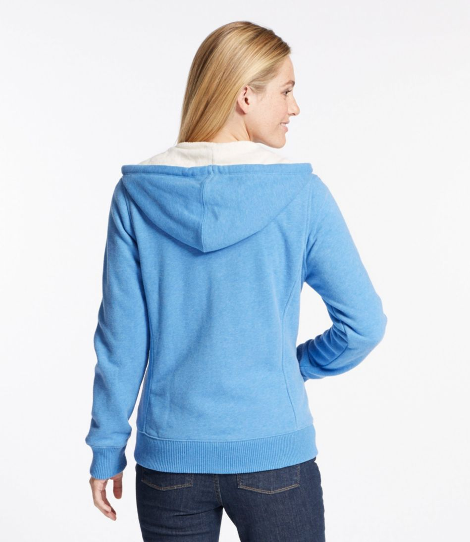 Women's Sweater-Trimmed Sherpa-Lined Hoodie