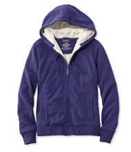 Sweater-Trimmed Sherpa-Lined Hoodie