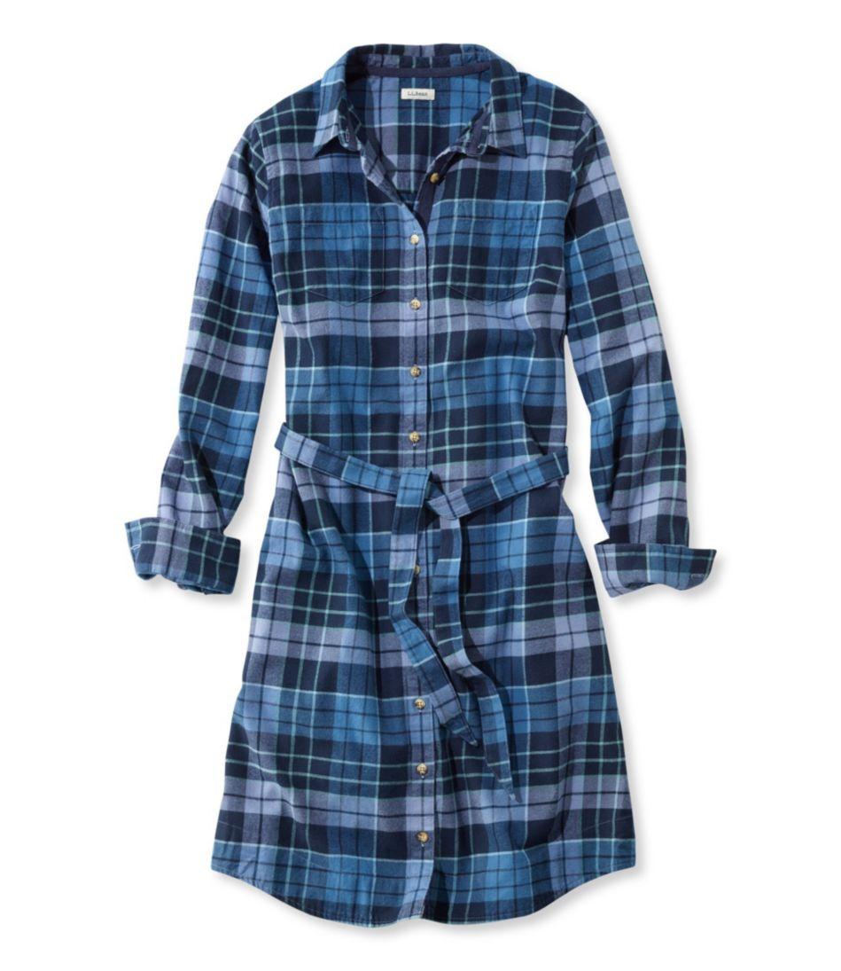 Button-Front Plaid Shirtdress