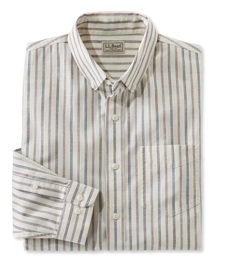 1930s Men's Clothing Easy-Care Chambray Shirt Traditional Fit Stripe $44.95 AT vintagedancer.com