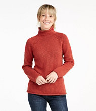 Cottage Cotton Sweater, Funnelneck Pullover