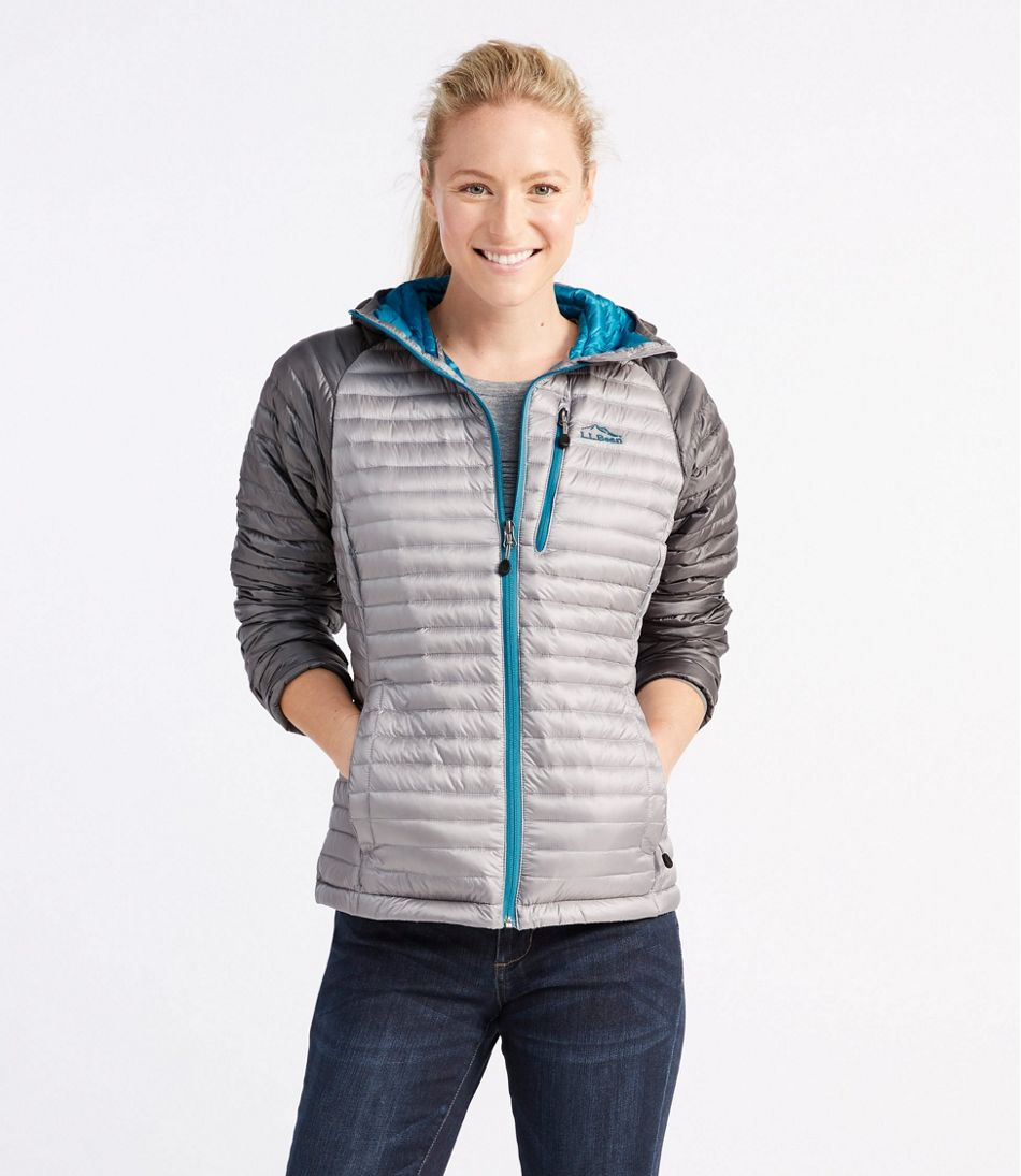 Women's Ultralight 850 Down Sweater Hooded Jacket, Colorblock