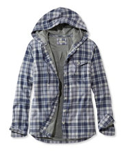 Jersey-Lined Flannel Shirt, Hoodie Plaid