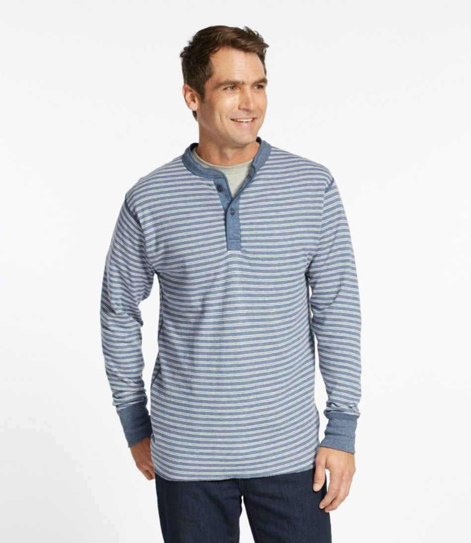 Two-Layer River Driver's Shirt, Traditional Fit Henley Stripe