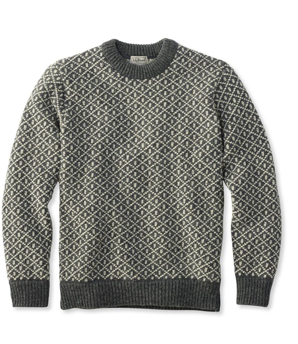 Heritage Sweater, Norwegian Crewneck Lattice