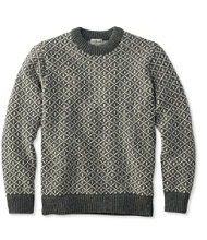 Heritage Sweater, Norwegian Crewneck Lattice