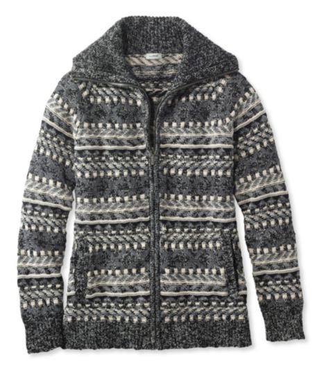 Cotton Ragg Sweater, Cardigan Fair Isle
