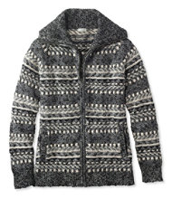 Cotton Ragg Sweater, Cardigan Fair Isle