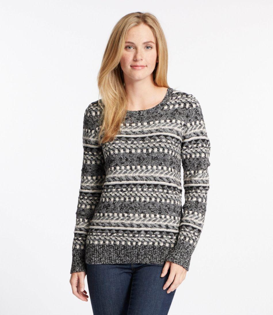 Cotton Ragg Sweater, Fair Isle Pullover