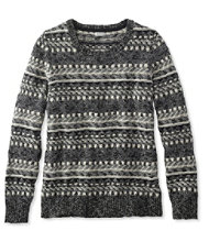 Cotton Ragg Sweater, Fair Isle Pullover