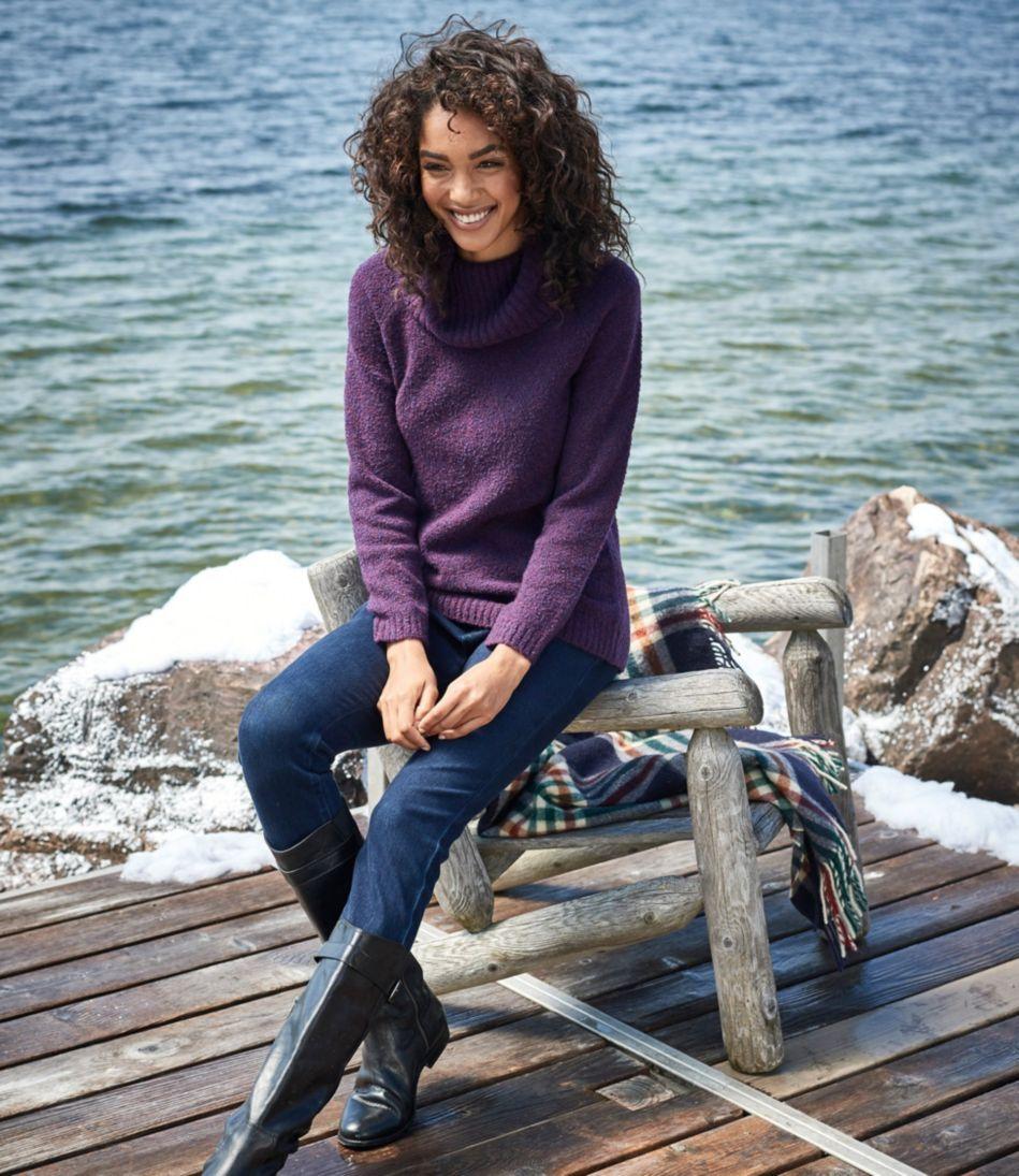 Cozy Bouclé Sweater, Cowlneck