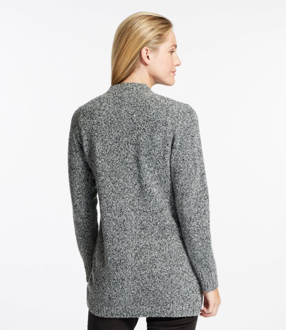 Cozy Bouclé Sweater, Open Cardigan