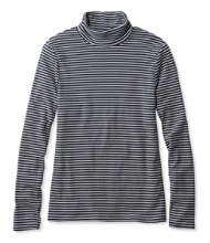 Double L Rib-Knit Turtleneck, Stripe