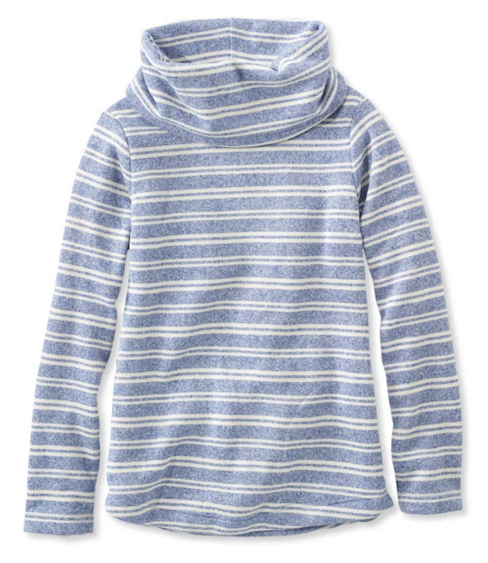 Easy Cowlneck Pullover, Stripe