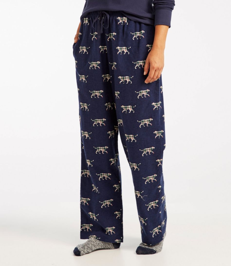 Women's L.L.Bean Flannel Pants, Print