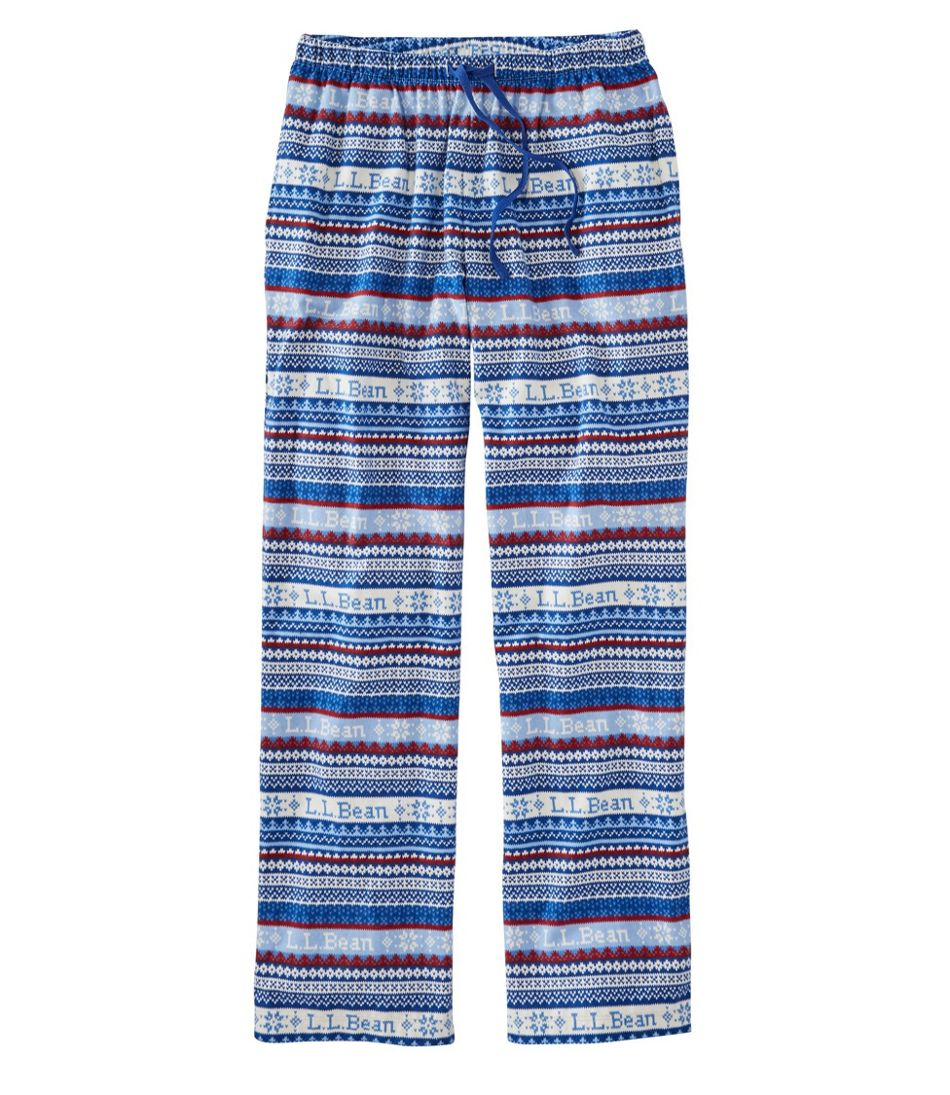 L.L.Bean Flannel Pants, Print