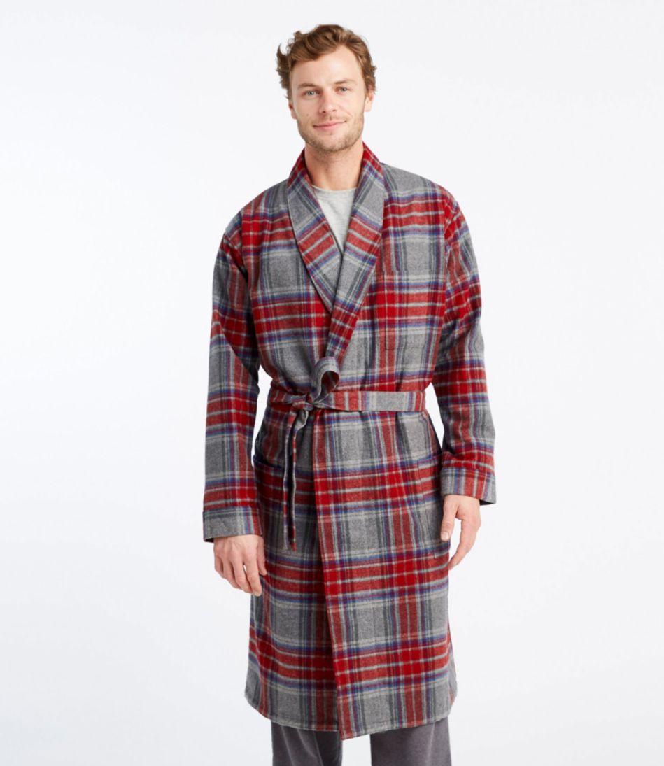 Chamois Cloth Robe, Plaid