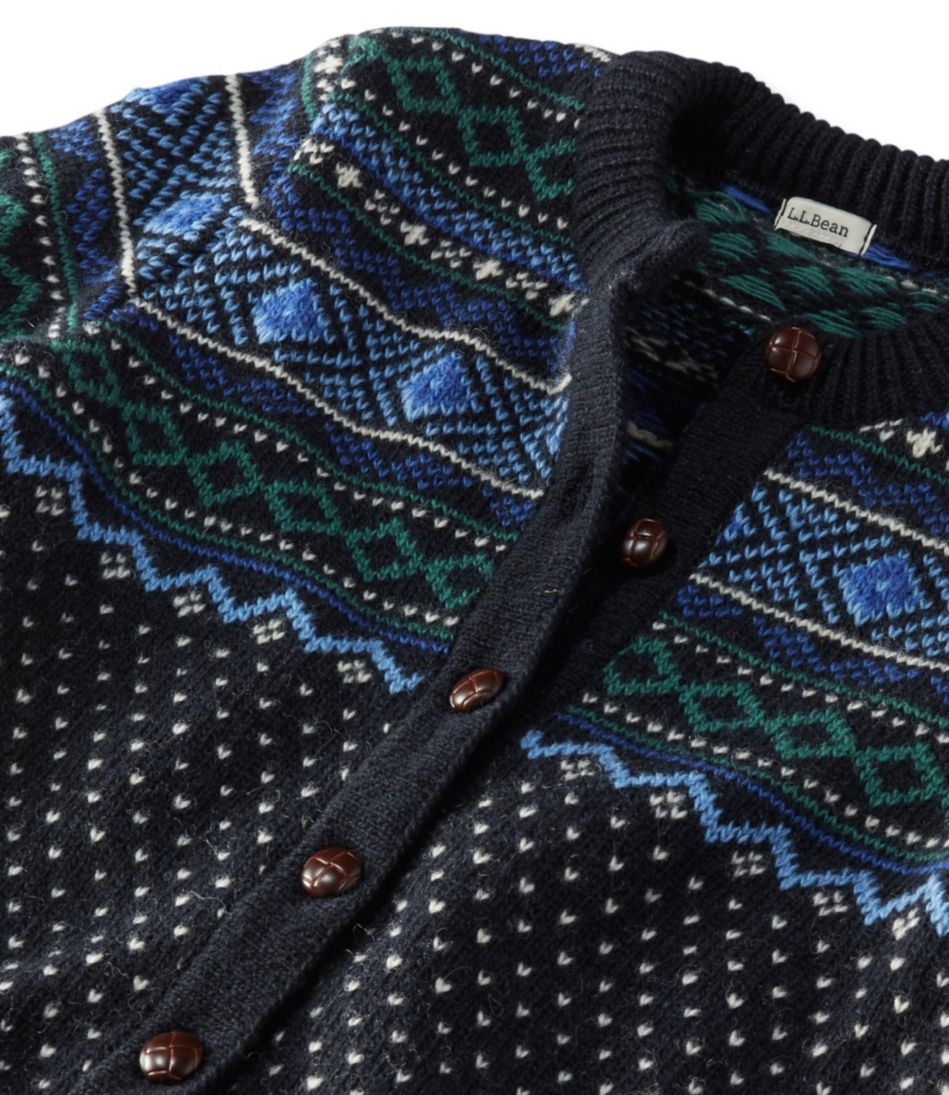 1912 Heritage Sweater, Bird's-Eye Fair Isle Cardigan