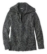 Women's Cotton Ragg Sweater, Marled Zip-Front Cardigan