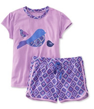 Girls' Jersey-Knit PJs, Shorts Print