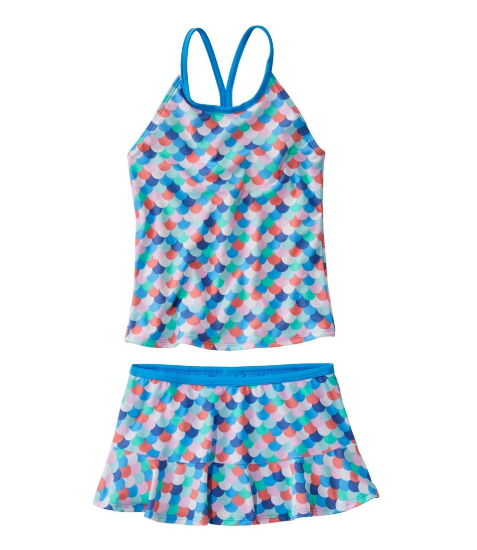 Girls' BeanSport Skirted Tankini, Print