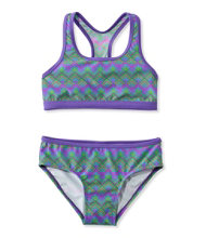 Girls' BeanSport Racer-Back Bikini, Print