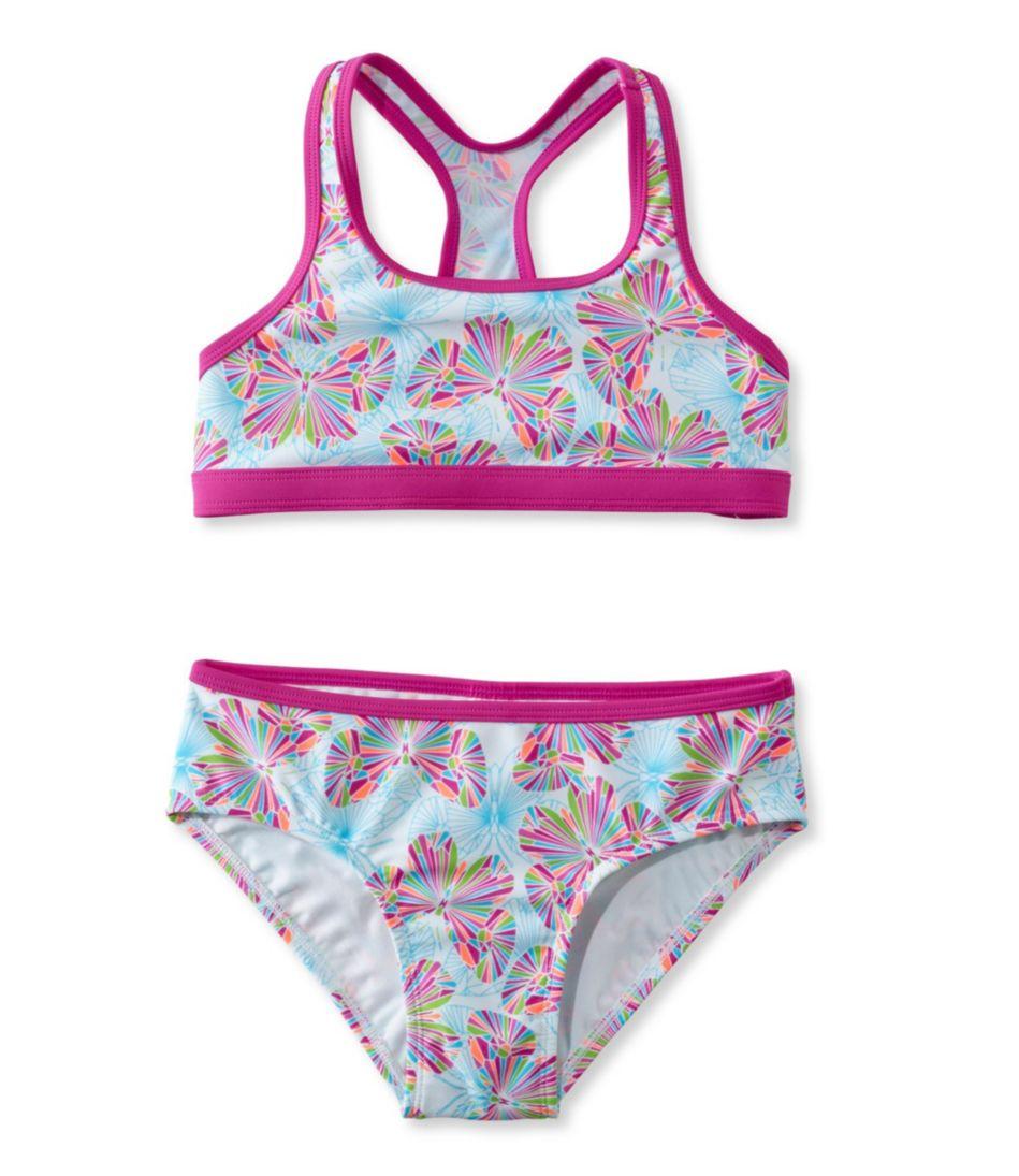 Girls' BeanSport Racer-Back Bikini, Print