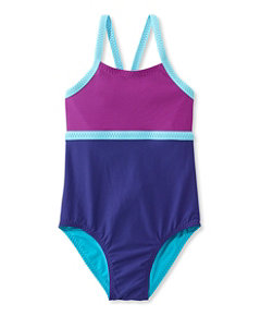 Girls' Sun-and-Surf Reversible Swimsuit, One-Piece
