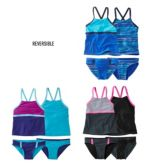 Girls' Sun-and-Surf Reversible Swimsuit, Two-Piece