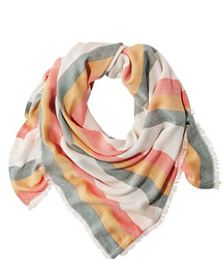 Women's Sunwashed Square Scarf, Stripe