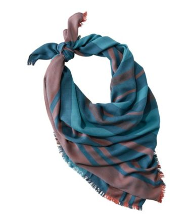 Sunwashed Square Scarf, Stripe