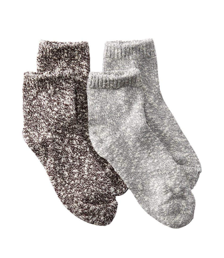 Women's Cotton Ragg Socks, Quarter-Crew Two-Pack